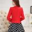 แฟชั่นเกาหลี set เสื้อสูท สีแดง และกระโปรง สวยมากๆ thumbnail 4