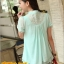 เสื้อทำงาน แฟชั่นเกาหลี เสื้อชีฟองแฟชั่น สีเขียวอ่อน คอแต่งลูกไม้ ปล่อยชายเสื้อเป็นระบาย ผ้าซีฟอง ใส่เป็นชุดทำงาน สวยมากๆครับ (พร้อมส่ง) thumbnail 3