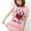 เสื้อยืดแฟชั่น ผ้านุ่ม ลาย Cool Dog (Size M:36 นิ้ว) สีชมพูอ่อน thumbnail 1