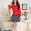 แฟชั่นเกาหลี set เสื้อสูท สีแดง และกระโปรง สวยมากๆ thumbnail 6