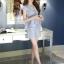 แฟชั่นเกาหลี set เสื้อ และกางเกง สีฟ้า พร้อมสร้อยคอสุดสวย thumbnail 8
