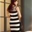 ชุดเดรสสั้น ชุดเดรสเข้ารูป Brand เกาหลี เดรสผ้านิตติ้งแขนกุด ลายขวางขาวดำ ผ้ายืดหยุ่นได้ดี สวยมากๆครับ (พร้อมส่ง) thumbnail 8
