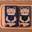 [เซต2คู่] ลายใหม่ถุงเท้าลายแมวนั่งสมาธิ เก๋ๆ เซตคู่สีเทาและกรมท่า thumbnail 1