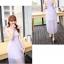 ชุดเดรสชีฟอง สีม่วงอ่อน แขนกุด แฟชั่นเกาหลีมาใหม่ สวยมากๆ thumbnail 7