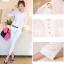 เสื้อแฟชั่น เสื้อเกาหลี เสื้อทำงาน คอวี ประดับกระดุมด้านหน้า3เม็ด กระเป๋าหน้า ผ้าชีฟอง เสื้อสีขาว สวยมากๆ (พร้อมส่ง) thumbnail 4