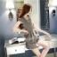 แฟชั่นเกาหลี set เสื้อ และกางเกง สีเทา พร้อมสร้อยคอสุดสวย thumbnail 6