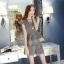 แฟชั่นเกาหลี set เสื้อ และกางเกง สีเทา พร้อมสร้อยคอสุดสวย thumbnail 3