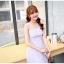 ชุดเดรสชีฟอง สีม่วงอ่อน แขนกุด แฟชั่นเกาหลีมาใหม่ สวยมากๆ thumbnail 6