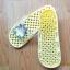 K011-YL **พร้อมส่ง** (ปลีก+ส่ง) รองเท้านวดสปา เพื่อสุขภาพ ปุ่มเล็ก ลายโตโรโร่ สีเหลืองอ่อน thumbnail 4