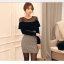 เสื้อผ้าแฟชั่นเกาหลี Set 2 ชิ้น ( เสื้อและกระโปรง) thumbnail 6