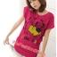 เสื้อยืดแฟชั่น ผ้านุ่ม ลาย Cool Dog (Size M:36 นิ้ว) สีชมพูบานเย็น thumbnail 1