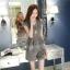 แฟชั่นเกาหลี set เสื้อ และกางเกง สีเทา พร้อมสร้อยคอสุดสวย thumbnail 5
