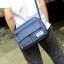Pre-order กระเป๋าผ้าสะพายข้าง สะพายลำลองกีฬากลางแจ้ง ใส่ ipad 10 นิ้วผู้ชายแฟชั่นเกาหลี รหัส Man-3013 สีน้ำเงิน thumbnail 1