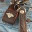 พวกกุญแจหนังวัวแท้ถัก + ซองใส่ ไฟเช็ค ( ฟรี ! ไฟเช็ค ) thumbnail 3