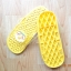 K016-YL **พร้อมส่ง** (ปลีก+ส่ง) รองเท้านวดสปา เพื่อสุขภาพ ปุ่มเล็ก ลายโพโรโร่ สีเหลือง thumbnail 4