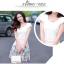 ชุดเดรสน่ารัก แฟชั่นเกาหลี ตัวเสื้อผ้าชีฟองเนื้อดี สีขาว thumbnail 6