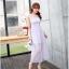ชุดเดรสชีฟอง สีม่วงอ่อน แขนกุด แฟชั่นเกาหลีมาใหม่ สวยมากๆ thumbnail 2