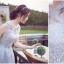 ชุดราตรีสั้น สี smokey grey สวยหรู เกรดพรีเมี่ยม แขนกุด (F) thumbnail 4