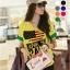 เสื้อยืดเกาหลี คอวี แขนเบิ้ล ลาย April 18 สีเหลือง (Size M : 36 ) thumbnail 1