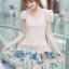 ชุดเดรสเกาหลี Brand Ai Fei ชุดเดรสสั้น ตัวเสื้อผ้าถักลายผีเสื้อ สีชมพูโอรส กระโปรงผ้าชีฟองลายดอกไม้ และผีเสื้อ สวยมากๆครับ (พร้อมส่ง) thumbnail 1