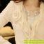 เสื้อเกาหลี style goodyou เสื้อคลุมผ้าเนื้อผสมสี beige แขนยาวแต่งผ้าซีฟองที่ขอบวนดอกกุหลาบ สวยเหมือนแบบ100% ครับ พร้อมส่ง thumbnail 11