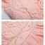 ชุดเดรสยาว ชุดเดรสยาวออกงาน ตัวเสื้อผ้าถักลายดอกไม้ ช่วงเอวด้านหน้าปักด้วยมุก และคริสตรัสใสสวยมากครับ(พร้อมส่ง) thumbnail 5