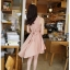 ชุดเดรสสั้น DRESS ชุดเดรส ผ้าซีฟอง คงรูปและทิ้งตัวดี โทนสี APRICOT มีซับใน ใส่ทำงาน ใส่เที่ยวได้ (พร้อมส่ง) thumbnail 2