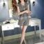 แฟชั่นเกาหลี set เสื้อ และกางเกง สีเทา พร้อมสร้อยคอสุดสวย thumbnail 7