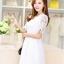 ชุดเดรสน่ารัก ผ้าถักโครเชต์ลายดอกไม้ สีขาว สวยมากๆ thumbnail 3