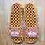 K011-BR2 **พร้อมส่ง** (ปลีก+ส่ง) รองเท้านวดสปา เพื่อสุขภาพ ปุ่มเล็ก ลายลิง สีน้ำตาล thumbnail 1