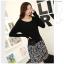 ชุดเดรสแฟชั่น ตัวเสื้อผ้านิตติ้ง เนื้อนุ่มมากๆ ยืดหยุ่นได้ดีสุดๆ แขนยาว สีดำ มาพร้อมผ้าพันคอ thumbnail 6