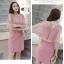 ชุดเดรสสวยๆ ผ้าคอตตอนฉลุลายตามแบบ สีชมพู ตัวเดรสด้านในแขนกุด thumbnail 8