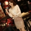 เสื้อเกาหลี style goodyou เสื้อคลุมผ้าเนื้อผสมสี beige แขนยาวแต่งผ้าซีฟองที่ขอบวนดอกกุหลาบ สวยเหมือนแบบ100% ครับ พร้อมส่ง thumbnail 6