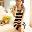 ชุดเดรสสั้น ชุดเดรสเข้ารูป Brand เกาหลี เดรสผ้านิตติ้งแขนกุด ลายขวางขาวดำ ผ้ายืดหยุ่นได้ดี สวยมากๆครับ (พร้อมส่ง) thumbnail 6