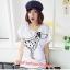 เสื้อยืดแฟชั่น ผ้านุ่ม ลาย Love Me (Size M:32-36 นิ้ว) สีขาว thumbnail 1