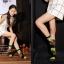 S329**พร้อมส่ง**(ปลีก+ส่ง) ถุงเท้าข้อยาว แฟชั่นเกาหลี วันฮาโลวีน มีหู มี 12 คู่ต่อแพ็ค เนื้อดี งานนำเข้า(Made in China) thumbnail 20