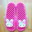 K011-DPK **พร้อมส่ง** (ปลีก+ส่ง) รองเท้านวดสปา เพื่อสุขภาพ ปุ่มเล็ก ลายกระต่าย สีชมพู thumbnail 1
