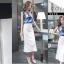 เสื้อผ้าแฟชั่นเกาหลี set เสื้อและกระโปรง สวยเก๋ thumbnail 3