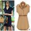 [พร้อมส่ง]สไตล์ยุโรป 2014 แฟร์ชั่นฤดูร้อนใหม่เสื้อผู้หญิงขนาดใหญ่ในชุดชีฟองยุโรปและอเมริกา แขนสั้นพร้อมเข็มขัด thumbnail 1
