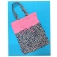 กระเป๋าผ้าTote bag สีชมพู + ลายดอกไม้บนพื้นสีกรมท่า thumbnail 1