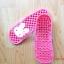 K011-DPK **พร้อมส่ง** (ปลีก+ส่ง) รองเท้านวดสปา เพื่อสุขภาพ ปุ่มเล็ก ลายกระต่าย สีชมพู thumbnail 4