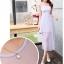 ชุดเดรสชีฟอง สีม่วงอ่อน แขนกุด แฟชั่นเกาหลีมาใหม่ สวยมากๆ thumbnail 5