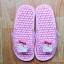 K016-PK **พร้อมส่ง** (ปลีก+ส่ง) รองเท้านวดสปา เพื่อสุขภาพ ปุ่มเล็ก ลายมายเมโลดี้ สีชมพู thumbnail 1