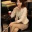 เสื้อเกาหลี style goodyou เสื้อคลุมผ้าเนื้อผสมสี beige แขนยาวแต่งผ้าซีฟองที่ขอบวนดอกกุหลาบ สวยเหมือนแบบ100% ครับ พร้อมส่ง thumbnail 7