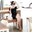 DRESS ชุดเดรสสั้น เปิดหลัง แฟชั่นใส่ทำงาน - ใส่เที่ยว สีดำ ผ้าคอตตอน น่ารัก เท่ๆ จ้า thaishoponline thumbnail 1