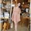 ชุดเดรสสั้น DRESS ชุดเดรส ผ้าซีฟอง คงรูปและทิ้งตัวดี โทนสี APRICOT มีซับใน ใส่ทำงาน ใส่เที่ยวได้ (พร้อมส่ง) thumbnail 3
