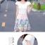 ชุดเดรสน่ารัก แฟชั่นเกาหลี ตัวเสื้อผ้าชีฟองเนื้อดี สีขาว thumbnail 5