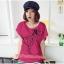 เสื้อยืดแฟชั่น ผ้านุ่ม ลาย Love Me (Size M:32-36 นิ้ว) สีชมพูบานเย็น thumbnail 1