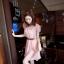 CHERRY DRESS ชุดเดรสคอจีน แฟชั่นผ้าชีฟอง สีชมพู ติดกระดุมหน้า แขนเสื้อแต่งระบายจับจีบ เอวเป็นยางยืด มีซับในทั้งตัว มาพร้อมเข็มขัดเข้าชุด ใส่ทำงาน น่ารัก Donut fashion (พร้อมส่ง) thumbnail 4