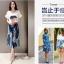 แฟชั่นเกาหลี set เสื้อ กระโปรง และเข็มขัดสวยสุดคุ้มจ้า thumbnail 4